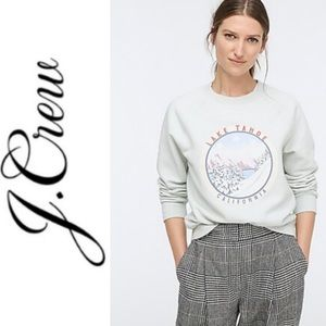 J. Crew Lake Tahoe California Sweatshirt Mint S